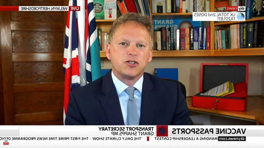 Vaccine passports WILL use NHS Covid app and 'green list' countries to be revealed within two weeks, Grant Shapps says