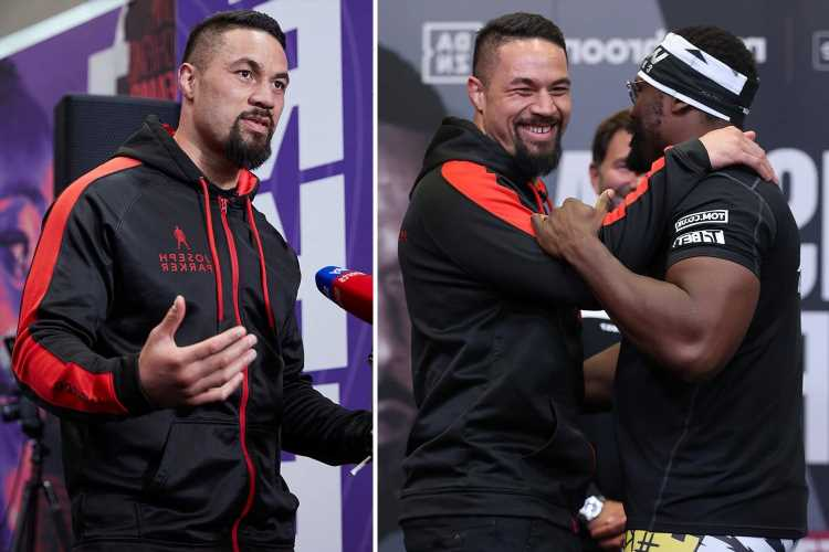Watch Derek Chisora HUG Joseph Parker at face-off as Kiwi champ vows to get nasty after Joshua and Whyte defeats