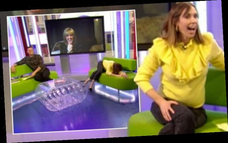 Alex Jones slumps over One Show sofa as she's mortified by April's Fool prank 'You got me'