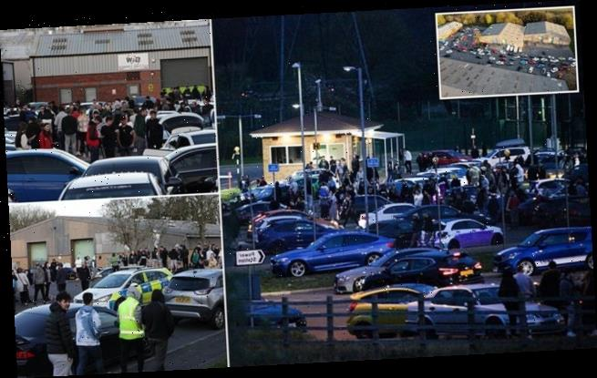 Hundreds of boy racers ignore rules to attend car meet in Nottingham