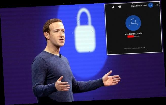 Leaked phone number suggests Mark Zuckerberg may be on Signal