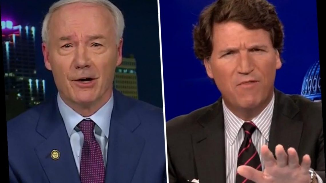 Tucker Carlson slams Arkansas Gov for being 'pro-choice over chemical castration' after child gender-transition ban veto