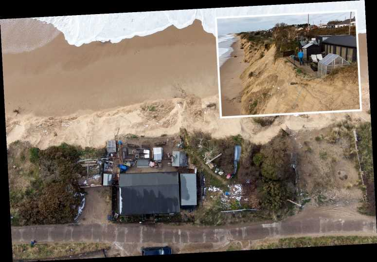 Ex-soldier fears house will collapse into sea as it 'hangs by its teeth' on crumbling clifftop