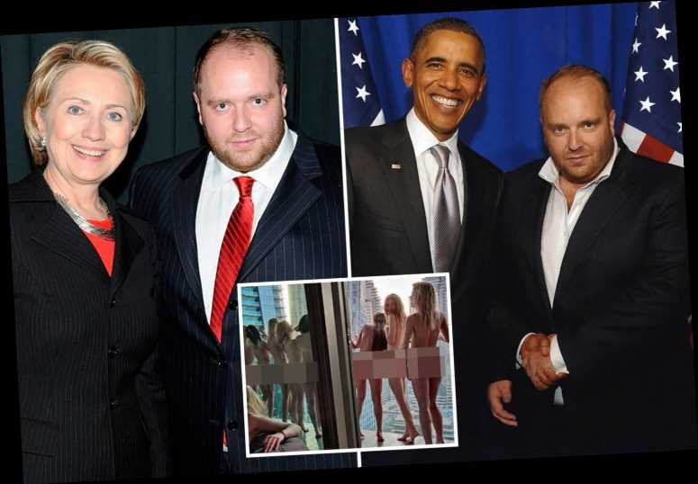Ukrainian playboy 'behind Dubai naked photoshoot' is pictured with Hillary Clinton and 'made Obama campaign donation'
