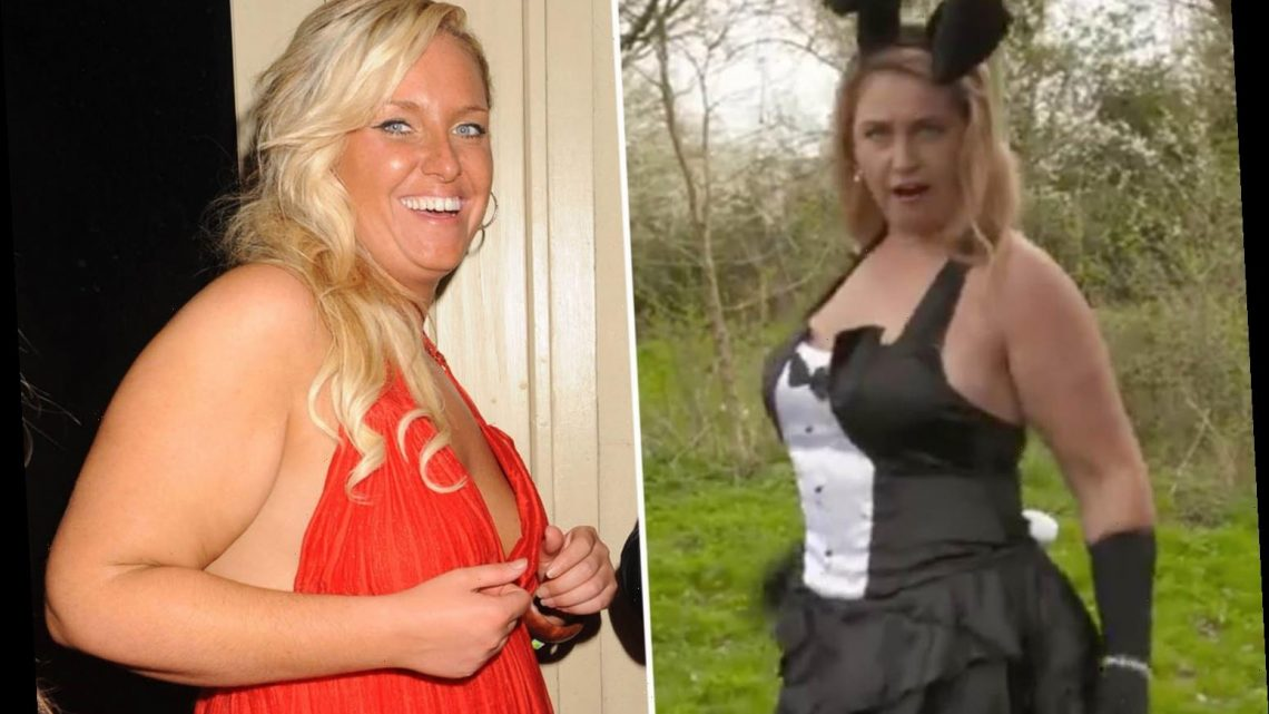 This Morning's Josie Gibson says she's lost 1st after switching to a healthy diet as she poses in skimpy bunny outfit