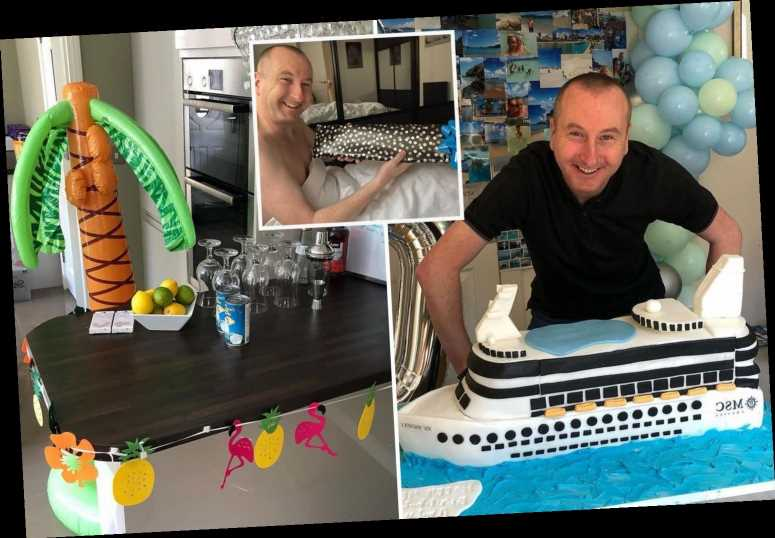 Corrie's Andy Whyment celebrates turning 40 with a cancelled Caribbean cruise themed party