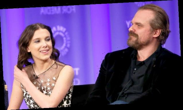 Millie Bobby Brown Calls Out TV Dad David Harbour For Hosting IG Live From Set Of 'Stranger Things 4'