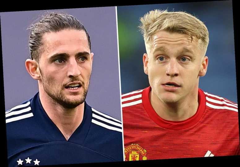 Man Utd 'willing to offer Donny van de Beek in Adrien Rabiot player-swap transfer exchange with Juventus'