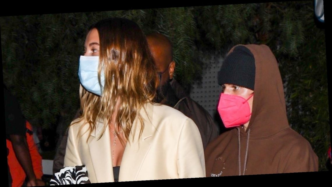 Justin & Hailey Bieber Keep Close on Date Night in West Hollywood