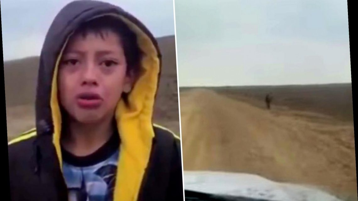 Video shows sobbing boy apparently abandoned at US border