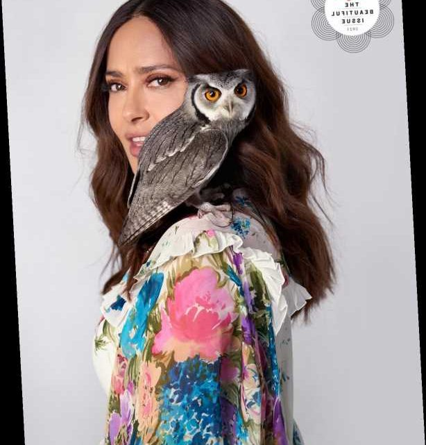 Salma Hayek Says Her 'Curious' Pet Rescue Owl Has Great Taste: 'She Like Good Wine, This One'