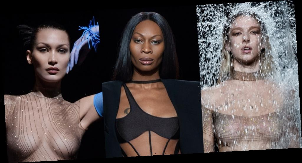 Mugler's New Collection Is Brought to Life by Hunter Schafer, Dominique Jackson, Bella Hadid, & More – See the Fierce Photos