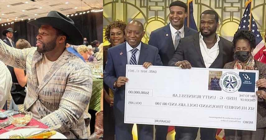 50 Cent Donates $300K To Enhance  Business Programs In Houston Schools