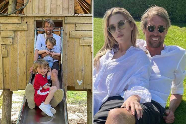 Abbey Clancy and Peter Crouch cosy up on day out after she admits they 'hated' each other before fourth child