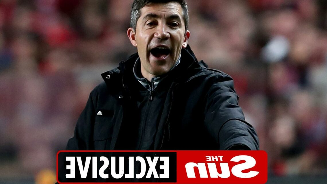 Bruno Lage lands in England for talks with Wolves with Portuguese boss set to be named successor to Nuno Espirito Santo