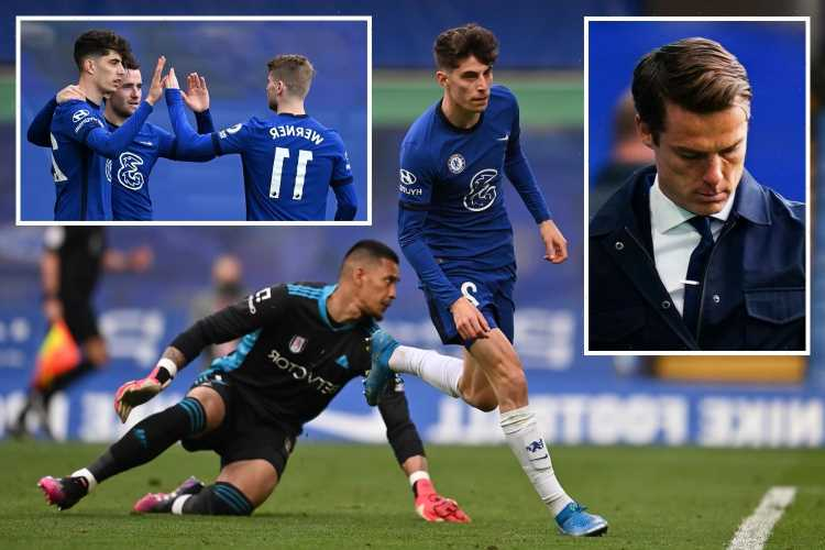 Chelsea 2 Fulham 0: Havertz double sees Blues consolidate top-four spot while Cottagers staring relegation in face