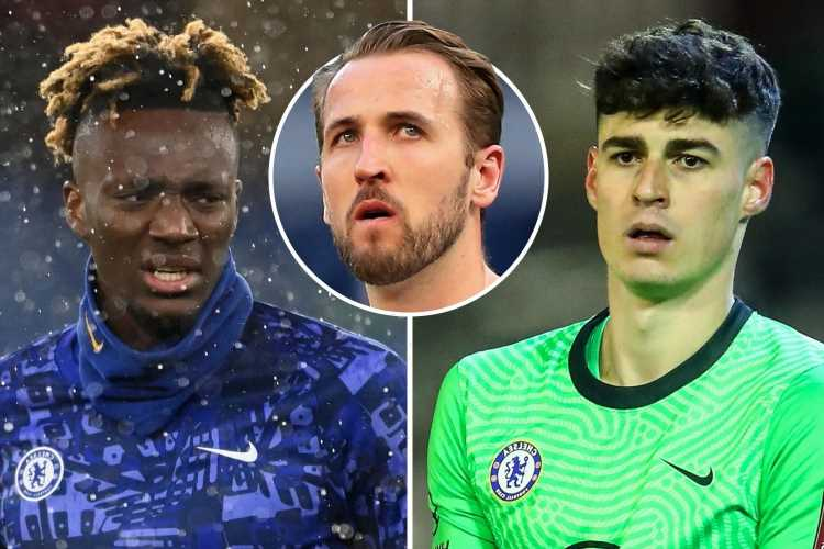 Chelsea 'willing to offer Tammy Abraham and Kepa in ambitious swap transfer for Harry Kane' as Man Utd and City circle