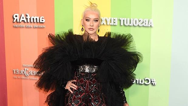 Christina Aguilera, 40, Looks Sexy In Tight Blue Dress: 'Sunshine Ahead' — See Pic