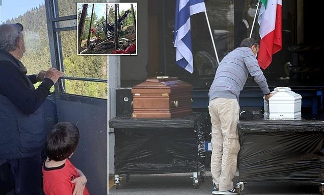 Coffins of Israeli family killed in Italian cable car horror lined up
