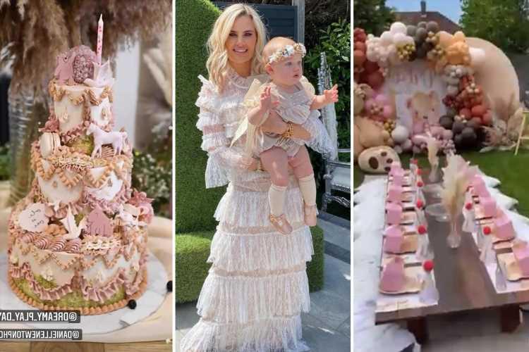 Danielle Armstrong throws daughter Orla, 1, an incredible birthday garden party