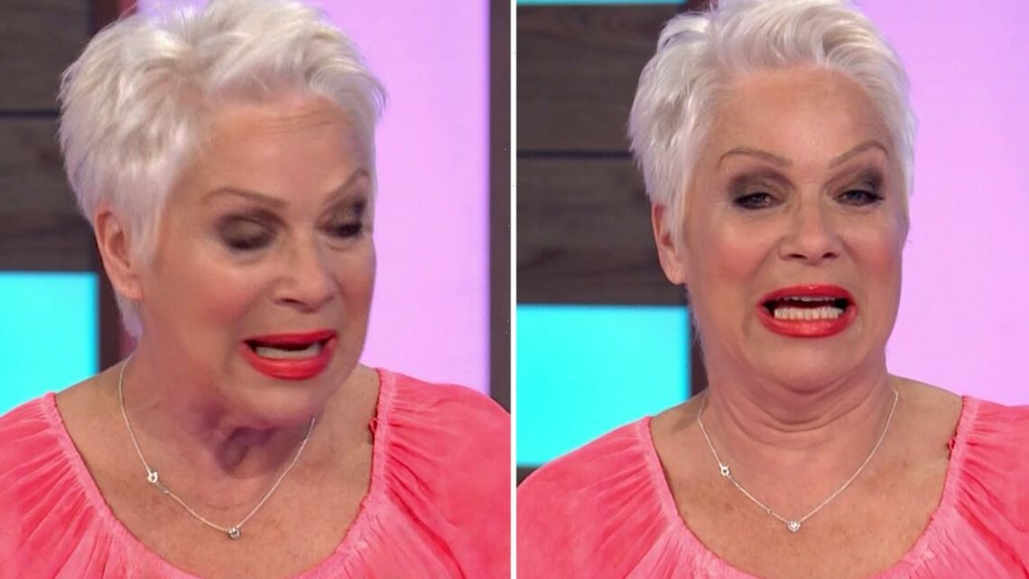 Denise Welch breaks down in tears on Loose Women saying 'I can't bear it any more' as she reveals her dad is in hospital
