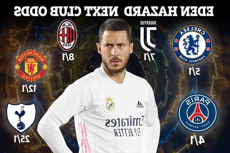 Eden Hazard next club odds: Chelsea lead Man Utd & Tottenham in race to sign Real Madrid ace, Mourinho also interested