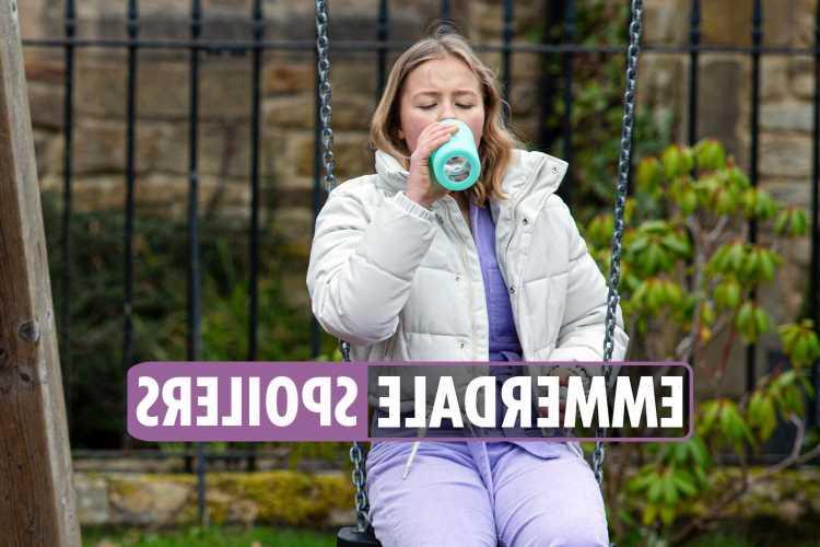 Emmerdale spoilers: Liv Flaherty downs vodka as she hides horrifying secret from boyfriend Vinny Dingle