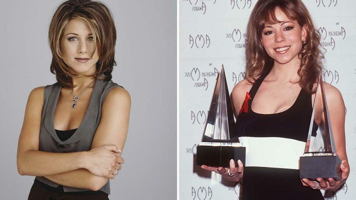 Friends star Jennifer Aniston praises Mariah Carey's hairstyle after the singer shares 'sad attempt' at 'Rachel hairdo'