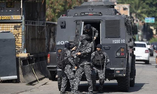 Gun battle between cops and a gang in Rio de Janeiro leaves 25 dead