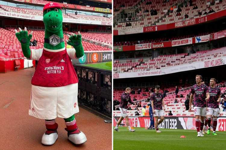 Gunnersaurus returns for Arsenal vs Brighton along with fans as beloved mascot says 'it's great to be back'