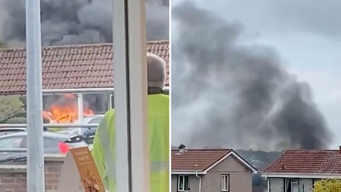 Hero Tesco shopper bravely moves burning vehicle away from others moments before fireball erupts in busy car park