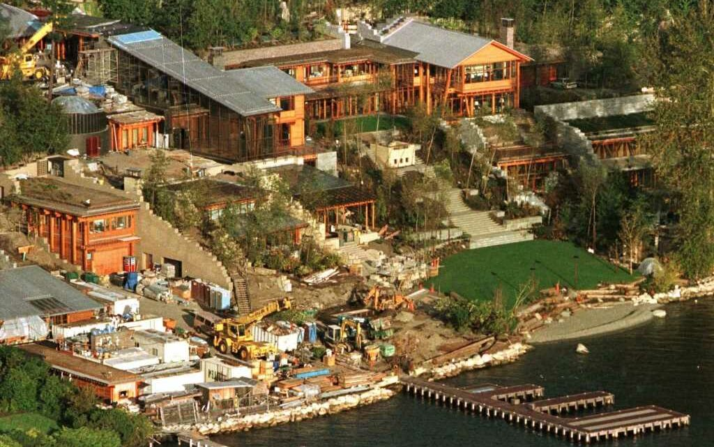 Inside Bill Gates' $80BILLION property empire – including $123m mansion with a trampoline room and 60-foot swimming pool