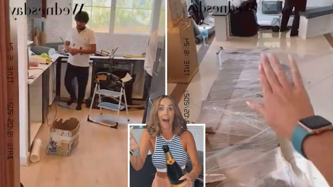 Inside Laura Anderson's new Dubai home as she moves in with Dane Bowers just weeks after getting back together