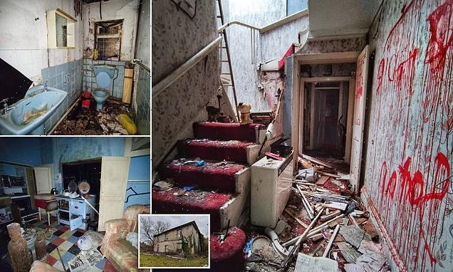 Inside a home left to rot