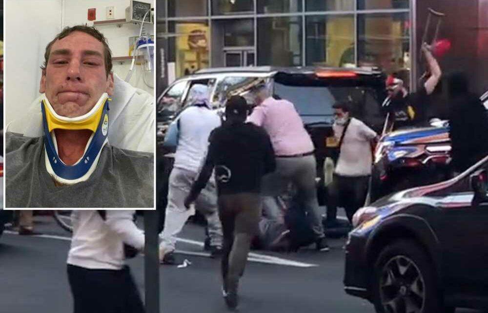 Jewish man beaten during wild NYC protests afraid to wear yarmulke