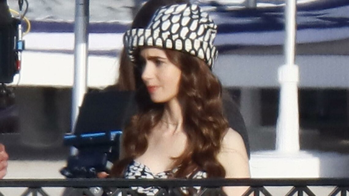 Lily Collins Spotted in Three Outfits for 'Emily in Paris' Season 2′s First Day of Filming!