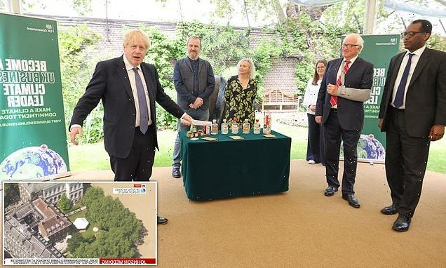 Marquee put up in No10 garden for 'charity events' before PM reception
