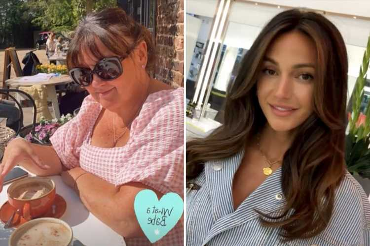 Michelle Keegan enjoys sun-soaked girly day out with her mum