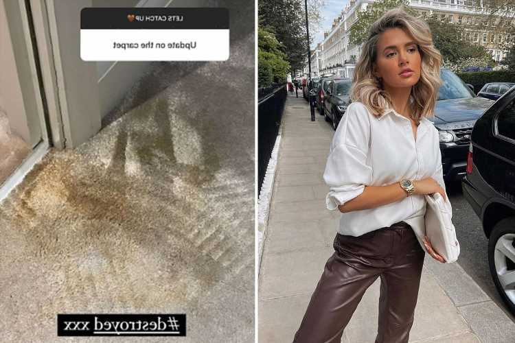 Molly-Mae shares update on 'destroyed' carpet after coffee blunder as she fears having to shell out for replacement