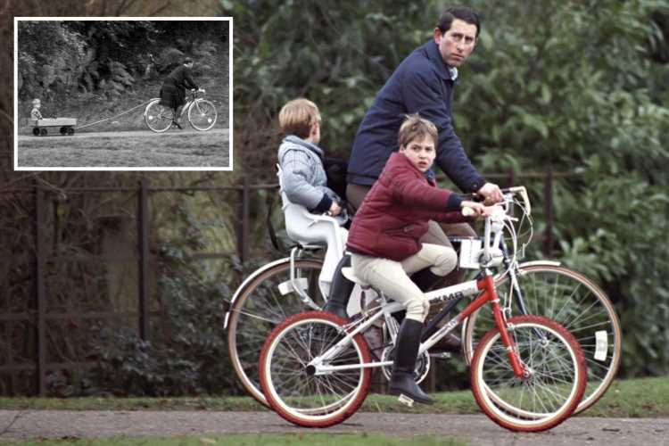 Prince Harry's claims he never went on bike rides with dad Charles debunked as unearthed snaps emerge