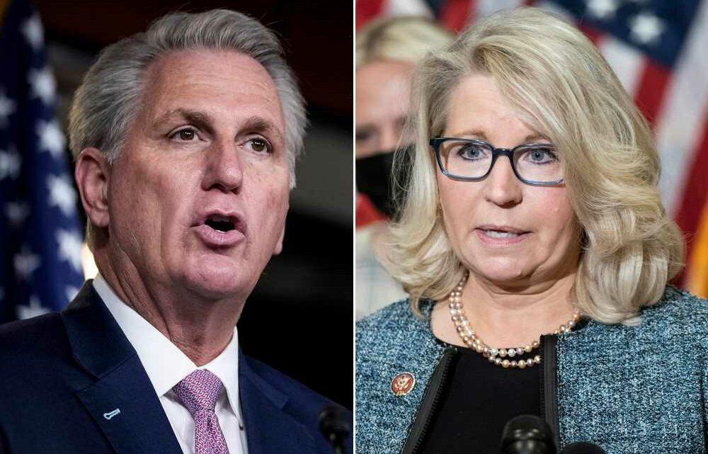 Rep. Kevin McCarthy takes aim at Liz Cheney amid leadership feud