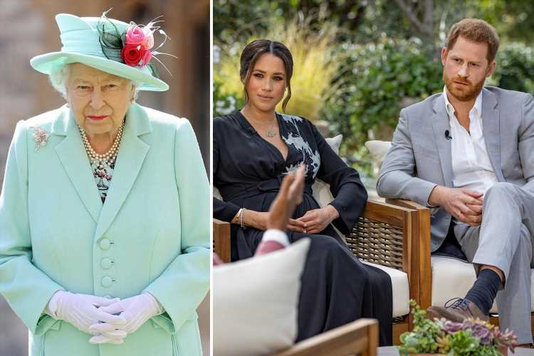 Royal Family watch 'with hands over their eyes' when Meghan Markle and Prince Harry speak, insider claims