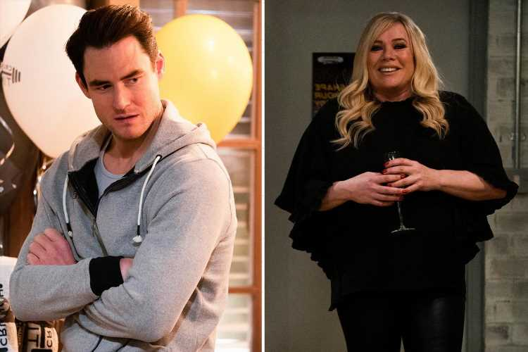 Sharon Watts kicks brother Zack Hudson out after he ruins her gym launch