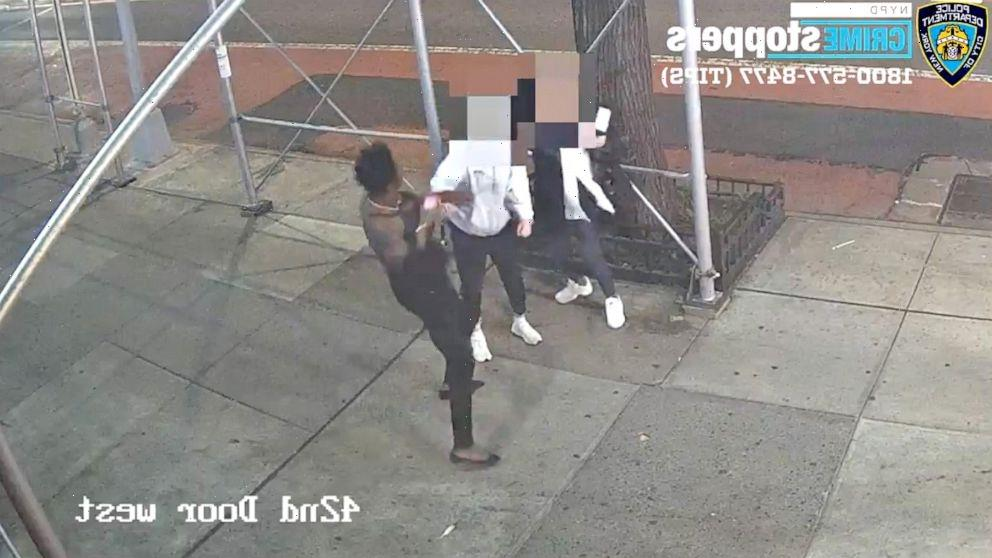 Suspect caught on video attacking Asian woman with hammer in New York City