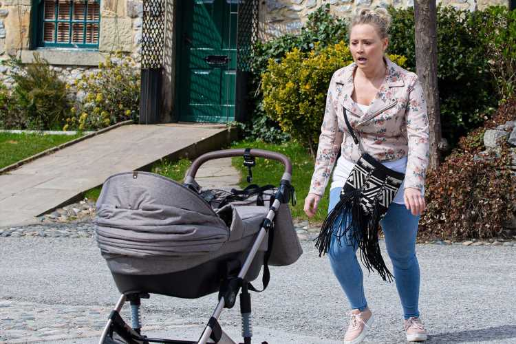 Tracy Metcalfe lets daughter Frankie's pram roll into the road in horrifying moment