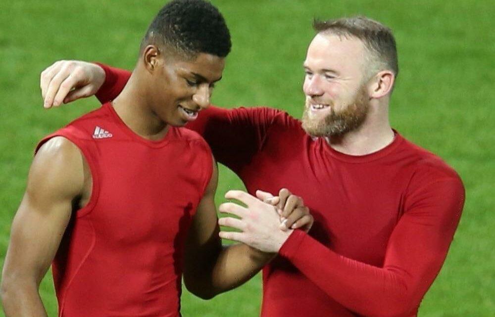 Wayne Rooney reveals he used Man Utd star Marcus Rashford's incredible rise to motivate Derby kids