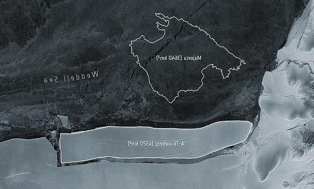 World's biggest iceberg breaks away from the Antarctic ice shelf