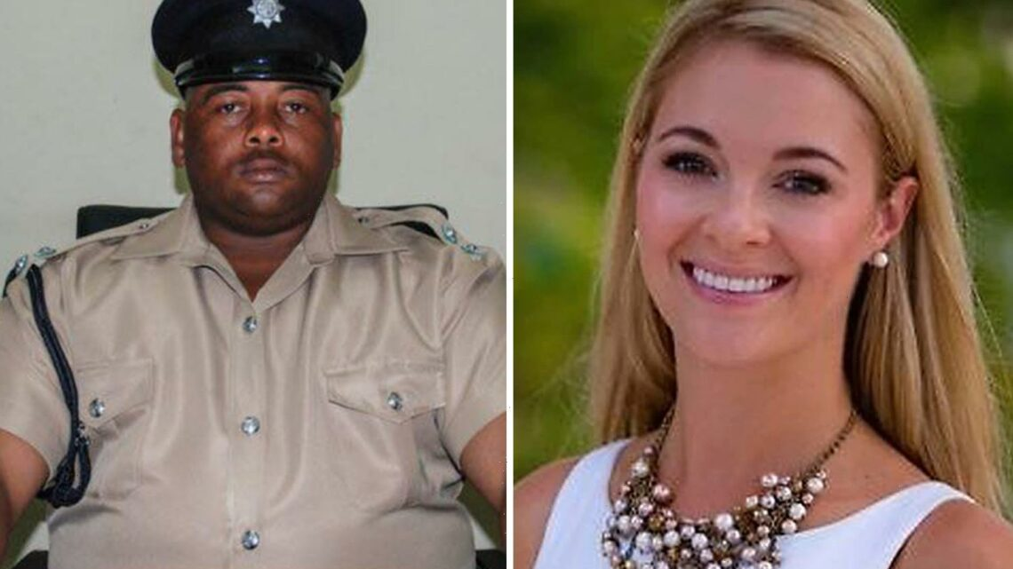 Belize cop 'was staying at Jasmine Hartin's hotel with 'notorious killer' who shot neighbour four times in the back'