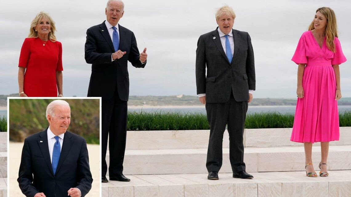 Biden jokes 'everybody in the water' at G7 photo op – and gets trolled with one viewer saying 'you first'