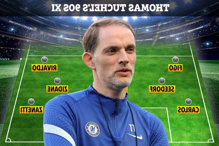 Chelsea boss Thomas Tuchel picks ultimate 90s XI with Schmeichel, Zidane and Rivaldo – but no English or German players